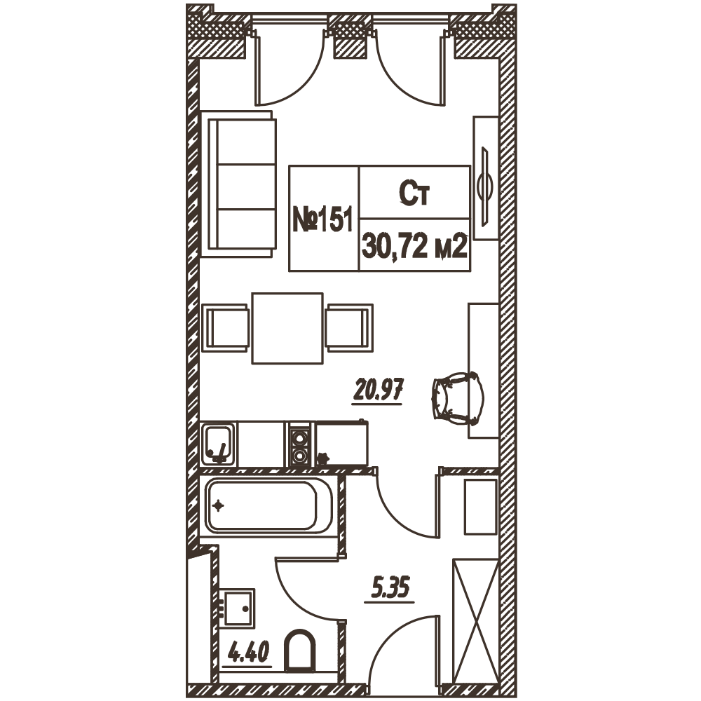 Лофт-квартал Docklands квартира 151