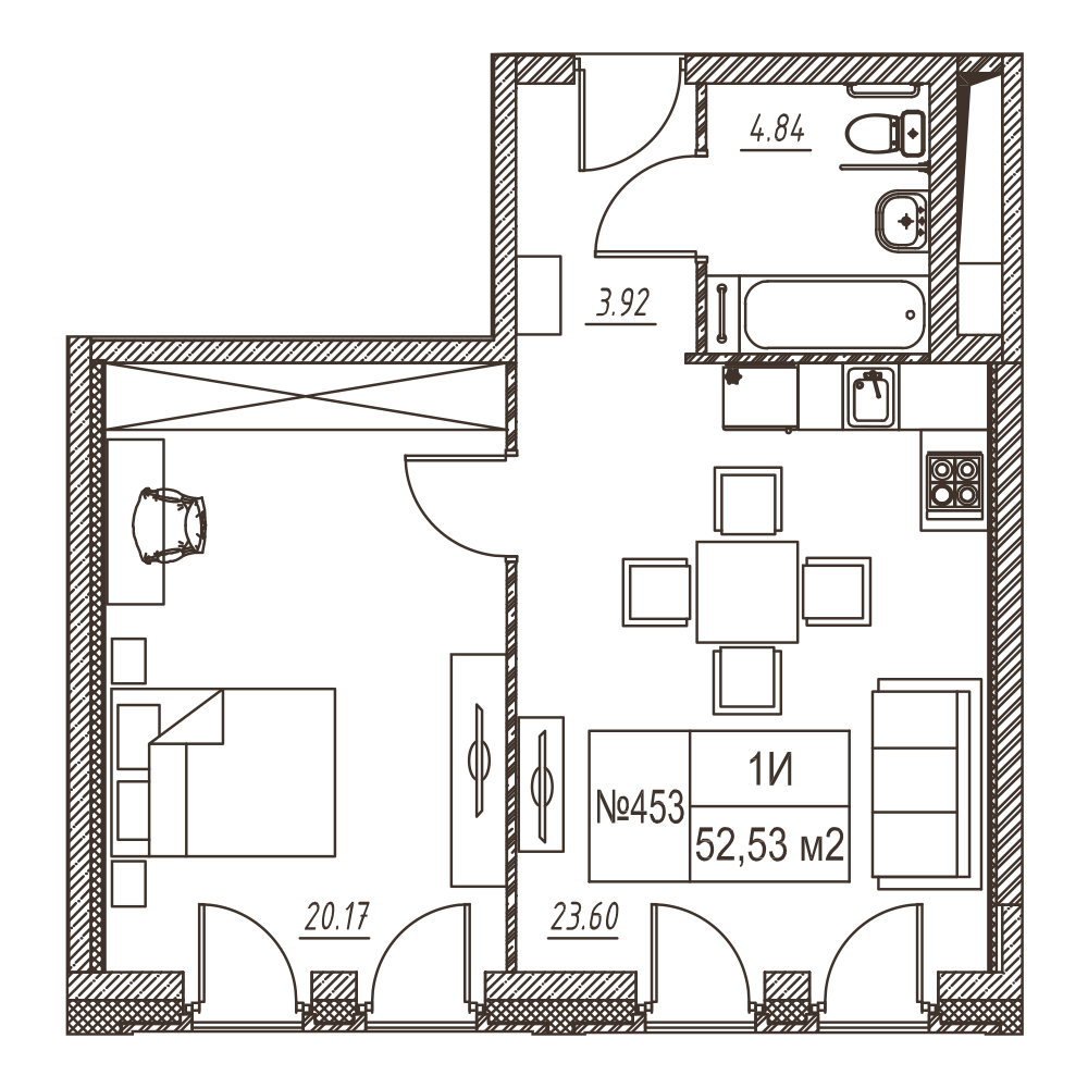 Лофт-квартал Docklands квартира 453
