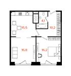 апартаменты с 2 спальнями